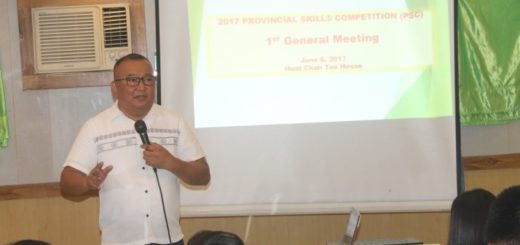 TESDA Tarlac Prepares for the 2017 Provincial Skills Competition