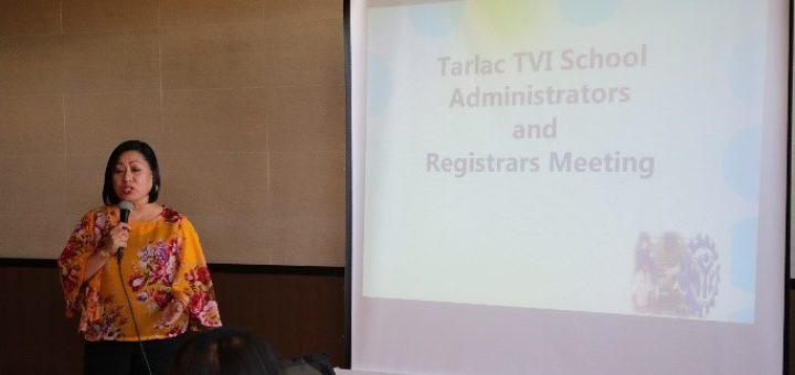 TESDA Tarlac meets Tarlac TVI Administrators and Registrars