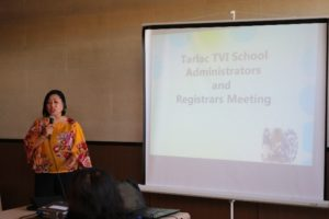 TESDA Tarlac meets Tarlac TVI Administrators and Registrars